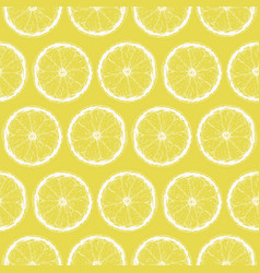 seamless pattern with lemon slices vector image