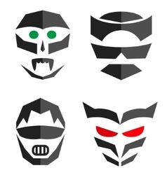 Set of hero mask Superhero costume accessories vector