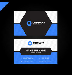 simple and minimal corporate business card vector image