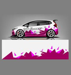 Sport car wrap design vector