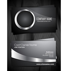 stylish business card design vector image