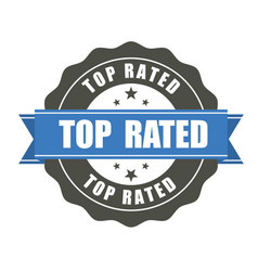 top rated badge - award sticker vector image