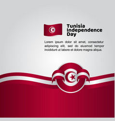 tunisia independence day flag template design vector image
