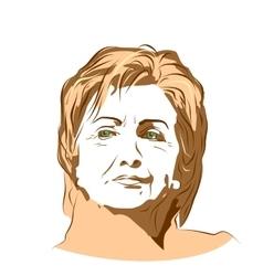 US Senator Hillary Rodham Clinton vector image