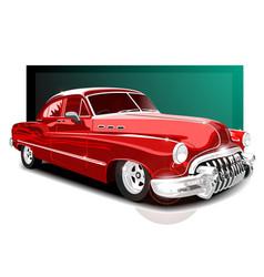 Vintage red car retro car vector