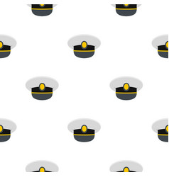 White nautical hat pattern flat vector