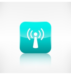 Wireless web icon Application button vector image vector image