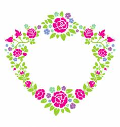 Wreath of roses vector