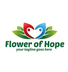 Flower of Hope Logo vector image