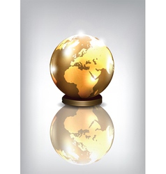 golden earth vector image vector image