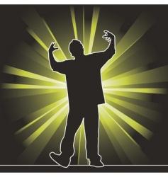 Hip-hop dancing silhouette vector