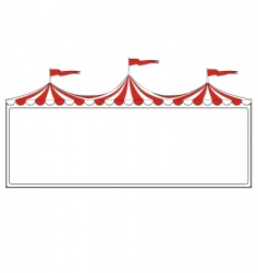 circus border vector image