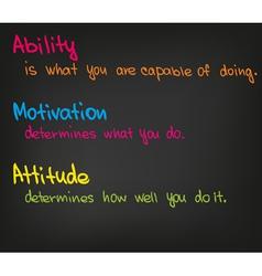 Motivation words vector image