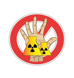 no nuclear power sign vector image vector image