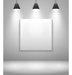 White gallery interior with frame vector image vector image