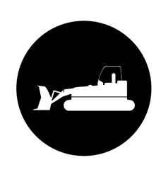 bulldozer truck construction sign pictogram vector image