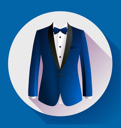 dark blue man suit icon vector image vector image