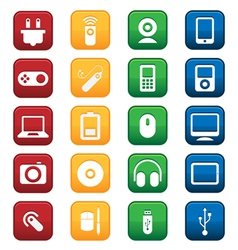 Gadgets Icons vector image vector image