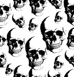 Skull seamless background vector image