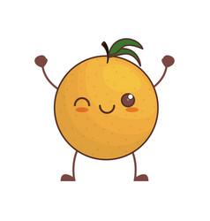 kawaii orange fruit image vector image