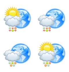 Love weather icons vector image
