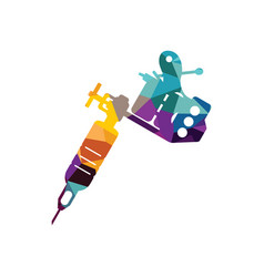 tattoo machine two coil figure vector image