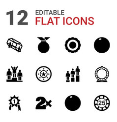 12 win icons vector