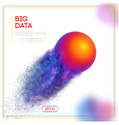 3d design template with big data colorful sphere vector image