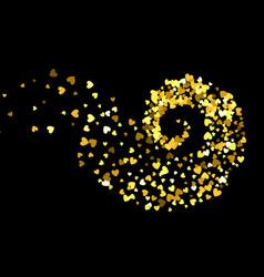 Abstract decoration vortex of hearts vector