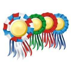 award rosette set vector image