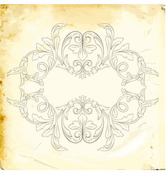 Baroque of vintage elements for design vector