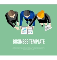 Business template Top view group of people vector