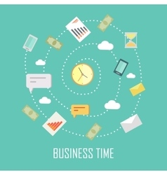 Business Time Concept vector