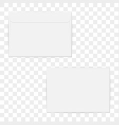 c4 blank mockup white letter paper envelope vector image