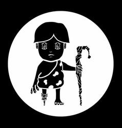 Cave boy vector