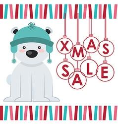 Christmas sale design vector