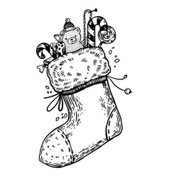 Black And White Christmas Stocking Vector Images Over 270