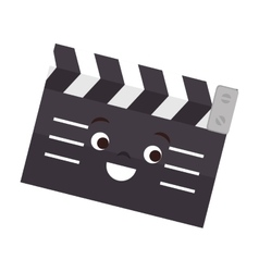 Clapper board isolated icon vector