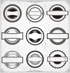Classic Badge Templates vector image