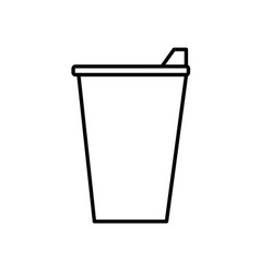 Coffee paper cup icon vector