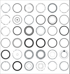 collection of round and circular decorative vector image