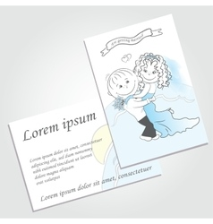 Couple in love background wedding invitation vector image