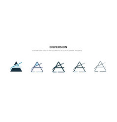 Dispersion icon in different style two colored vector