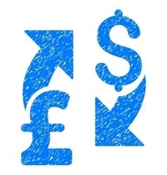 Dollar Pound Exchange Grainy Texture Icon vector