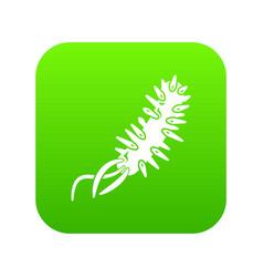 E coli bacteria icon green vector