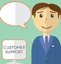 Flat design modern concept of customer support vector image