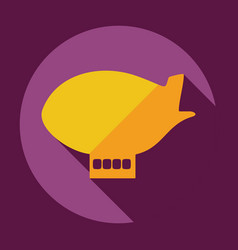 Flat modern design with shadow icon airship vector
