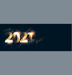 Glowing new year 2021 celebration background vector