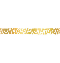 Gold foil metallic abstract shapes horizontal vector