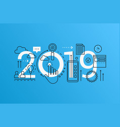 innovation 2019 word trendy composition concept vector image
